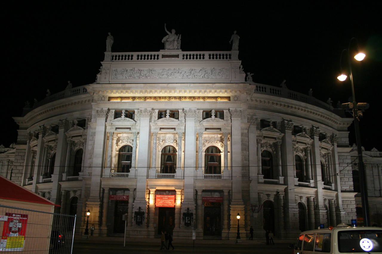 Friday, May 18, Vienna, Austria<br /> Burgtheather, famous Austrian opera house, Mozart preformed here