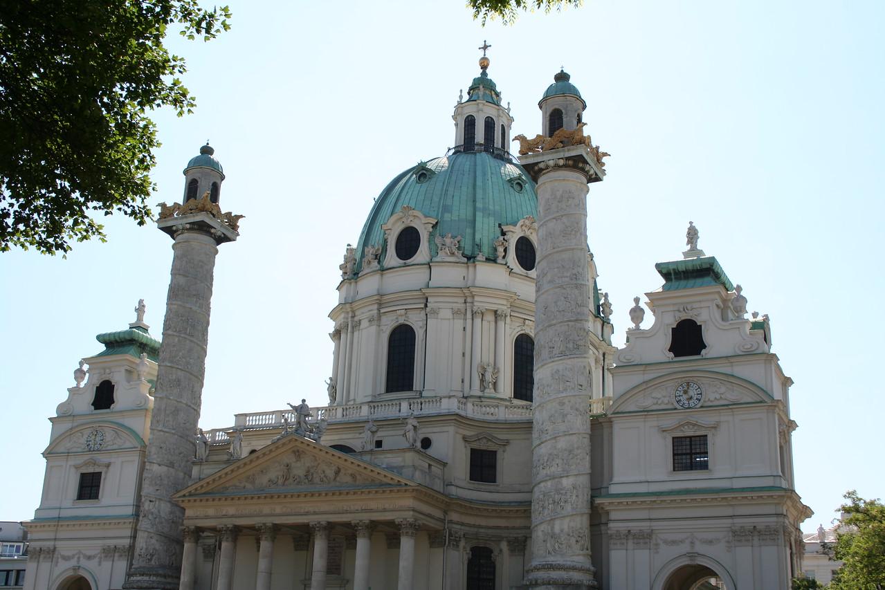 Saturday, May 19, Vienna, Austria<br /> KarlsKirche, biggest church in Vienna
