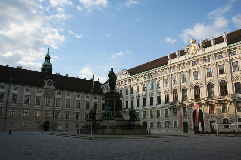 Friday, May 18, Vienna, Austria<br /> The former royal palace has been turned into several museums.  This is in one of the courtyards;  Alte Burg