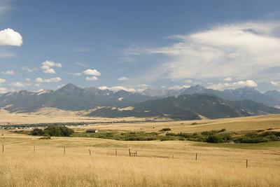 The Absaroka Range. Livingston and Livingston Peak are on the left.