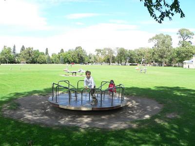 Having fun at Sacagawea Park in Livingston.