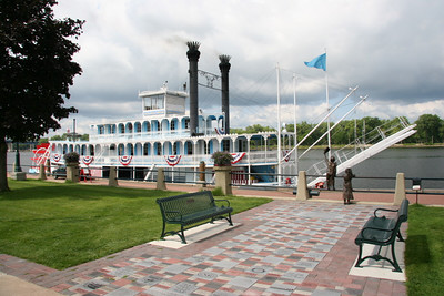 "Mississippi riverboat 'Julia Swain"" at LaCrosse WI."