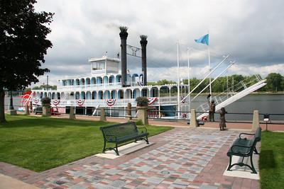 "Mississippi riverboat 'Julia Swain"" at LaCrosse WI."