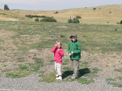 Natania and Sam at the prairie dog town.