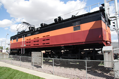 Milwaukee Road electric locomotive E57B on display at Harlowton, MT.