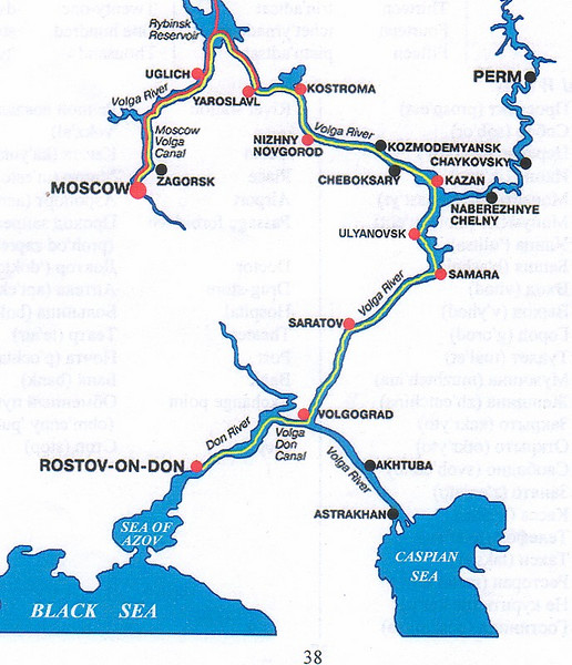 Our Russian Adventure began in April 2007 with a few days in Moscow before flying south to Rostov-On-Don to begin a river cuise across the heart of Russia and back to Moscow.