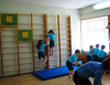 We were all sufficiently impressed with the facilities available for the children.  This room contained some basic gymnastic equipment where the children could burn off some energy.
