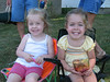 Kate (Cullen's cousin Mandy's daughter) and Reagan, cheesing for the camera!