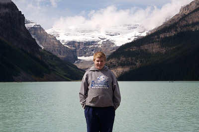 Aaron at Lake Louise