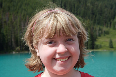 Kyra at Emerald Lake, Yoho National Park