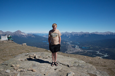 Aaron, as seen from the visitors center at the top of the Jasper Gondola