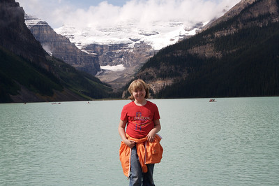 Kyra at Lake Louise