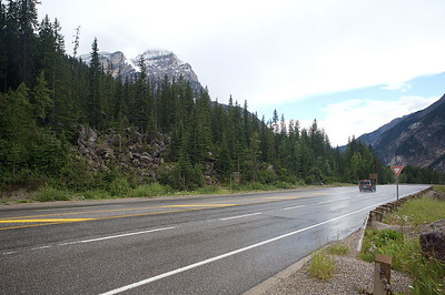 On the road in Banff National Park