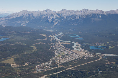 Jasper as seen from the visitors center at the top of the Jasper Gondola
