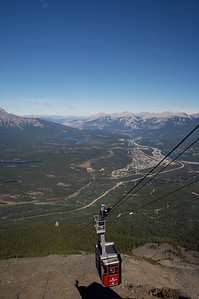 The Jasper Gondola with the town of Jasper in the background