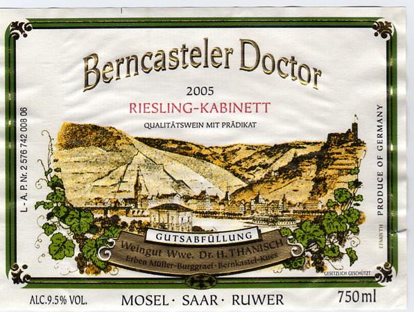 Label from Dr. Thanisch's bottle