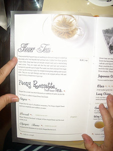 Infinitea sells these neat teas that unfold in your cup when served, and turn into a flower shape. India. Bangalore.