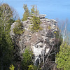 This is The Devil's Monument, the largest standing flowerpot formation in Ontario (the bottom is only about 1/3 the diameter of the top.) Some crazy chicks had made it here from the other direction in... flipflops... wtf? (Devil's Monument Loop)