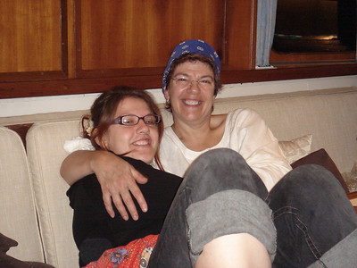 Barbara & Ruth relax in the saloon (pic supplied by Ellen and Matt - thanks!)