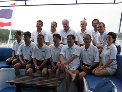 Group shot of boat crew and divemasters on our last morning, at Kuantan