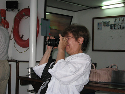 Then it was Barbara's turn to take a picture on Chris' camera