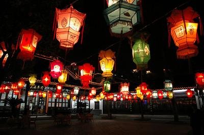 Wuxi city park at night, 03-19-07