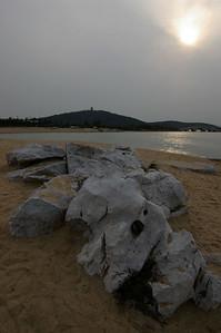 Wuxi Lake Tai sunset, 03-17-07