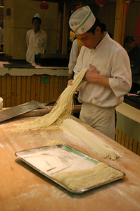 Wuxi seafood restaurant making noodles 2, 03-19-07