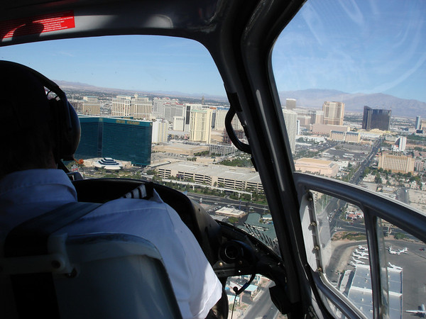 Just after initial take off from Las Vegas airport.