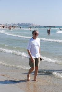 Larry is enjoying the beautiful Mediterranean water.