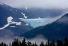Mendenhall Glacier.  Blue Ice from extreme compacting.