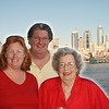 Candy, Ed, MaryNeal with the Seattle skyline in the background.