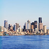 Panorama of the Seattle skyline. I took this in segments then matched them up. to the far right is just the beginning of Mt McKinnley - you can barely see the change in color