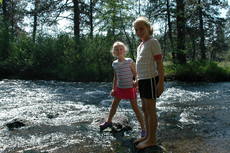 Jessie and Kate at our campsite along the Metolius river