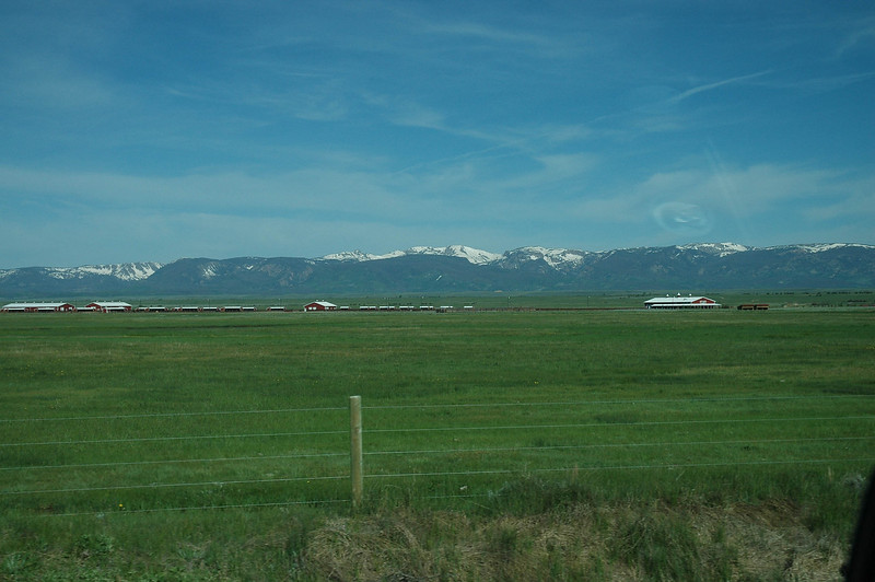 This is what it looked like as we drove through NE Colorado, and Wyoming.  High, flat plains.