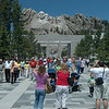 Mt. Rushmore is an incredible tourist attraction with tons of people and enough space and concessions for all of them.