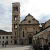 The Cathedral of St. Stjepan, built in the 16th and 17th century dominates the charming town square.