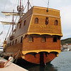 Tied alongside the harbor of Trogir was this replica of a Venetian ship.
