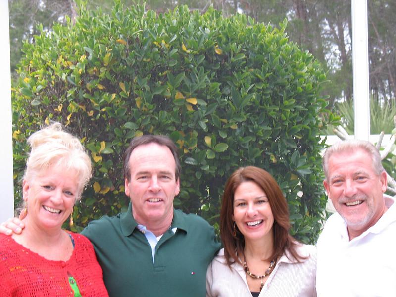 Cousin Barbara, Tom, Jayne, Alan in their beautiful backyard in Melbourne Fl!