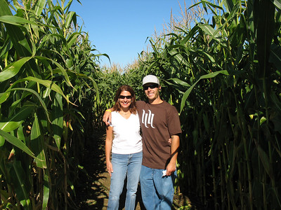 Troy and Mom in the maze!