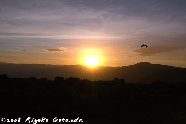 Sunrise over Simba camp on the rim of Ngorongoro Crater
