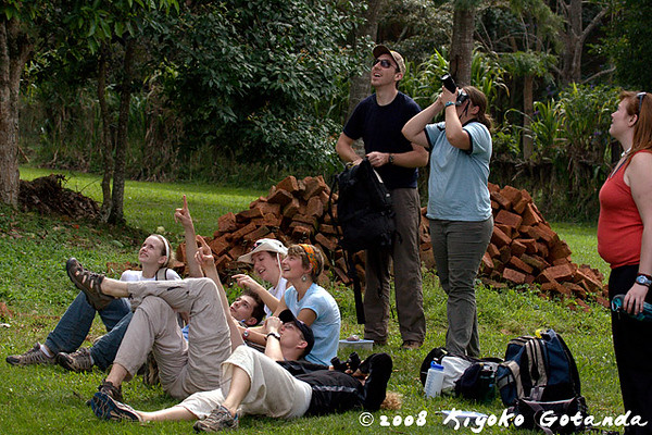 The aquatic ecology checks out what the primatology group have been doing for several days