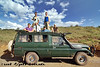 Our truck at Ngorongoro Gorge before descending into the crater