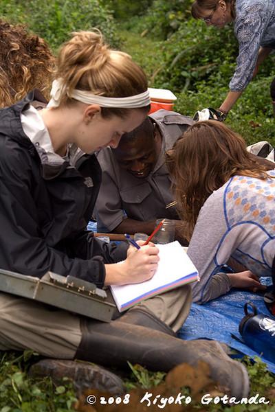 Kim keeps track of the identification of aquatic invertebrates