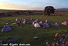 Morning at Simba Camp on the rim of the Ngorongoro crater