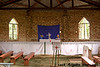 The interior of the church we attended near Kibale National Park in Uganda