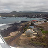Landing at San Cristobal, Galapagos Islands.