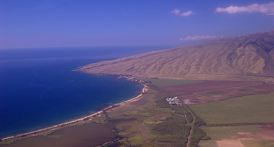 West coast of Maui from the air