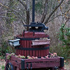 Grape press for wine;