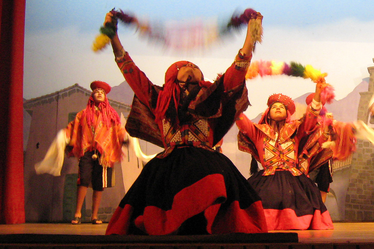 While in Cusco, we went to a dance show portraying the Indian culture of Peru.